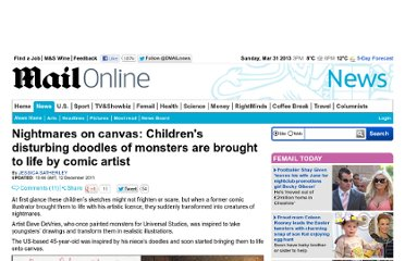 http://www.dailymail.co.uk/news/article-2073029/Nightmares-canvas-Childrens-disturbing-doodles-monsters-brought-life-comic-artist.html