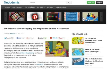 http://edudemic.com/2011/12/smartphones-in-classrooms/