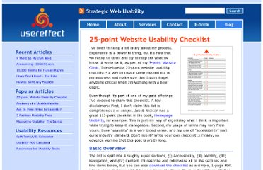 http://www.usereffect.com/topic/25-point-website-usability-checklist