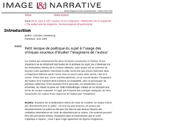 http://www.imageandnarrative.be/inarchive/l_auteur_et_son_imaginaire/Chelebourg.htm
