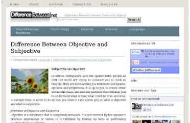 http://www.differencebetween.net/language/difference-between-objective-and-subjective/