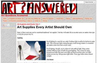 http://www.artquestionsanswered.com/art-supplies-and-studio-tips/art-supplies-every-artist-should-own