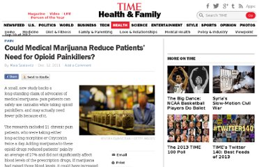 http://healthland.time.com/2011/12/12/could-medical-marijuana-reduce-patients-need-for-opioid-painkillers/
