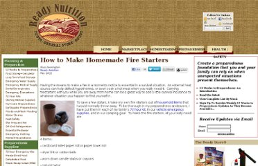 http://readynutrition.com/resources/how-to-make-homemade-fire-starters_18052011/