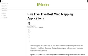 http://lifehacker.com/5188833/hive-five-five-best-mind-mapping-applications