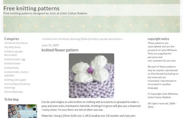 http://littlecottonrabbits.typepad.co.uk/free_knitting_patterns/2007/06/knitted_flower_.html