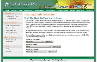 http://futuregarden.com/howto/healing-herbs-database