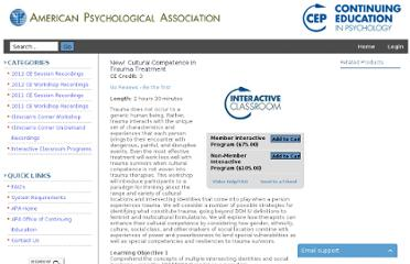 http://apa.bizvision.com/video/interactive-classroom-programs/cultural-competence-in-trauma-treatment(3844)