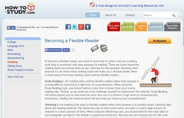 http://www.how-to-study.com/study-skills/en/becoming-a-flexible-reader.asp