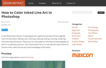 http://designinstruct.com/drawing-illustration/how-to-color-inked-line-art-in-photoshop/