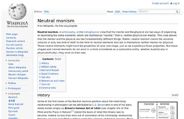 http://en.wikipedia.org/wiki/Neutral_monism