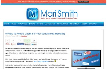 http://www.marismith.com/ways-record-videos-for-your-social-media-marketing/