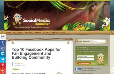 http://www.socialmediaexaminer.com/top-10-facebook-apps-for-fan-engagement-and-building-community/