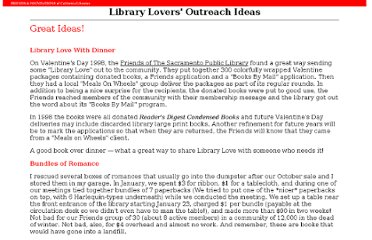 http://www.librarysupport.net/librarylovers/outreach.html