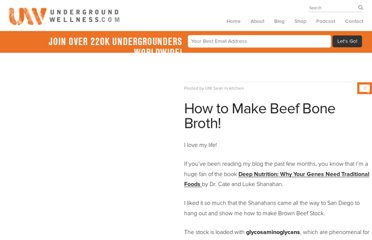 http://undergroundwellness.com/how-to-make-beef-bone-broth/