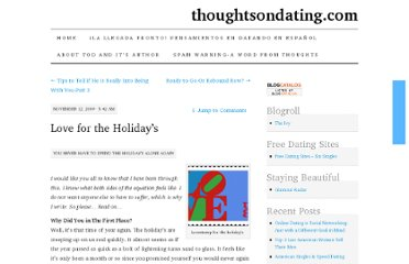 http://thoughtsondating.com/2009/11/12/love-for-the-holidays/