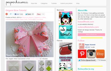 http://www.paperkawaii.com/2011/02/08/origami-ribbon-bow-tutorial/