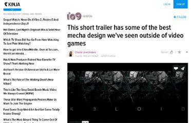 http://io9.com/5866548/this-short-trailer-has-some-of-the-best-mecha+suit-design-weve-seen-outside-of-video-games