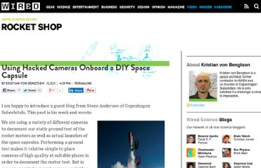 http://www.wired.com/wiredscience/2011/12/using-hacked-cameras-onboard-a-diy-space-capsule/