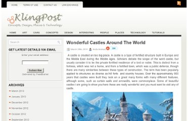 http://klingpost.com/wonderful-castles-around-the-world/