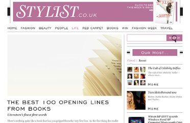 http://www.stylist.co.uk/life/the-best-100-opening-lines-from-books/