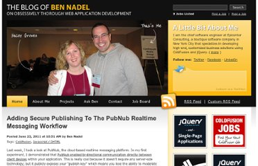 http://www.bennadel.com/blog/2217-Adding-Secure-Publishing-To-The-PubNub-Realtime-Messaging-Workflow.htm