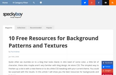 http://speckyboy.com/2008/01/19/top-10-free-resources-for-background-patterns-and-textures-for-web-designers/