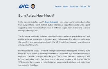 http://www.avc.com/a_vc/2011/12/burn-rates-how-much.html