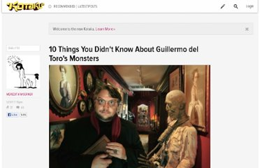 http://io9.com/5747879/10-things-you-didnt-know-about-guillermo-del-toros-monsters