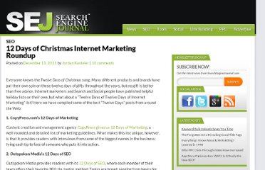 http://www.searchenginejournal.com/12-days-christmas-internet-marketing/37731/