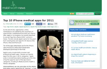http://mobihealthnews.com/15229/top-10-iphone-medical-apps-for-2011/