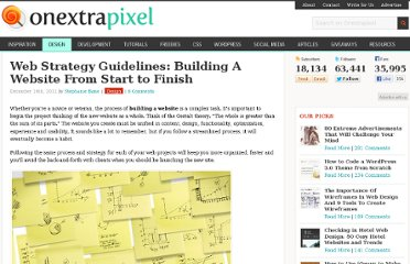 http://www.onextrapixel.com/2011/12/14/web-strategy-guidelines-building-a-website-from-start-to-finish/
