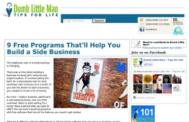 http://www.dumblittleman.com/2011/06/9-free-programs-thatll-help-you-build.html