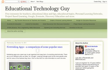 http://educationaltechnologyguy.blogspot.com/2011/12/notetaking-apps-comparison-of-some.html