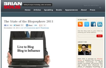 http://www.briansolis.com/2011/12/the-state-of-the-blogosphere-2011/