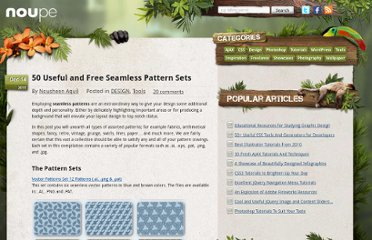 http://www.noupe.com/design/50-useful-and-free-seamless-pattern-sets.html