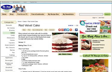http://www.mrfood.com/Cakes/Red-Velvet-Cake-from-Mr-Food/ml/1