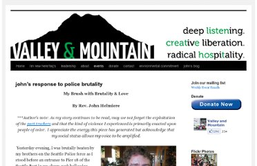 http://valleyandmountain.org/what-we-do/creative-liberation/johns-response-to-police-brutality/