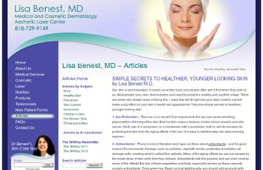 http://www.lisabenestmd.com/articles/simple-secrets-to-healthier-younger-looking-skinby-lisa-benest-m-d/
