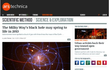 http://arstechnica.com/science/news/2011/12/the-milky-ways-black-hole-may-spring-to-life-in-2013.ars