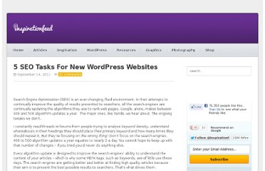 http://inspirationfeed.com/articles/blogging/5-seo-tasks-for-new-wordpress-websites/