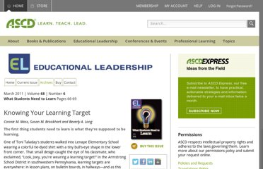 http://www.ascd.org/publications/educational-leadership/mar11/vol68/num06/Knowing-Your-Learning-Target.aspx