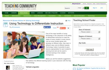 http://teaching.monster.com/benefits/articles/8484-using-technology-to-differentiate-instruction