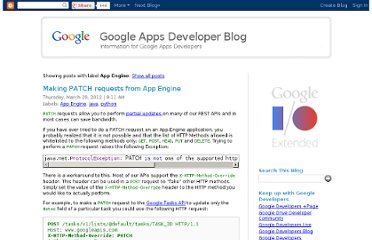 http://googleappsdeveloper.blogspot.com/search/label/App%20Engine