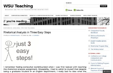 http://wsuteaching.wordpress.com/2011/10/18/rhetorical-analysis-in-three-easy-steps/