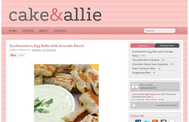 http://www.cakeandallie.com/2011/02/southwestern-egg-rolls-with-avocado-ranch/