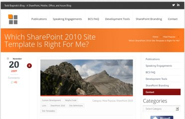 http://toddbaginski.com/blog/which-sharepoint-2010-site-template-is-right-for-me/