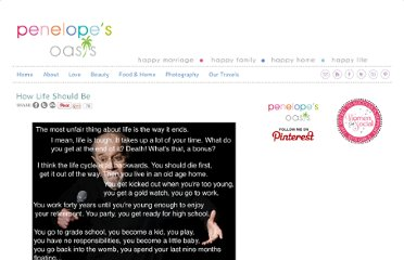 http://penelopesoasis.com/2011/how-life-should-be.html