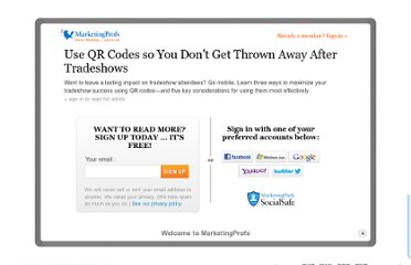 http://www.marketingprofs.com/articles/2011/6585/use-qr-codes-so-you-dont-get-thrown-away-after-tradeshows