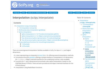 http://docs.scipy.org/doc/scipy/reference/tutorial/interpolate.html